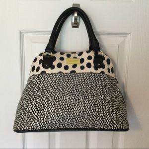 Betsy Johnson Polka Dot Dome Satchel Handbag
